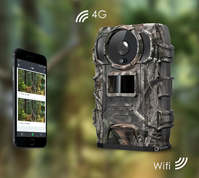 MMS Wildkamera zur Außenüberwachung mit Batteriebetrieb