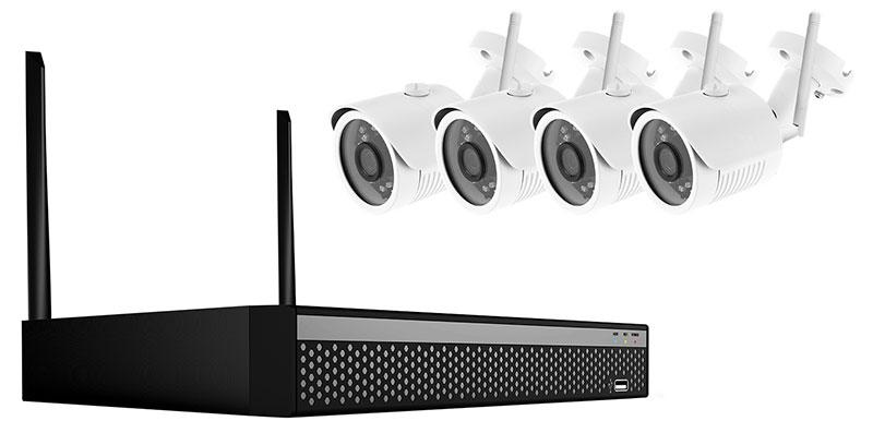 Überwachungskamera-Set mit Datenübertragung per WLAN