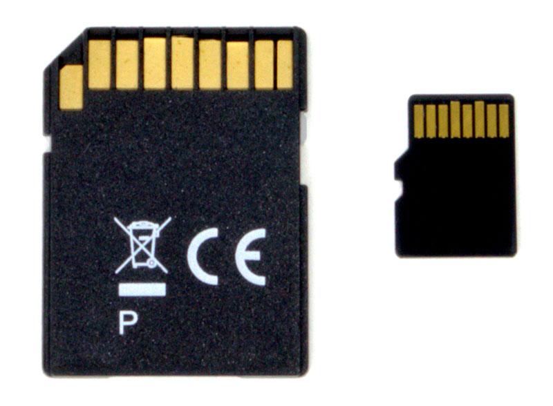 Speicherkarten: Häufig können Überwachungskameras intern auf MicroSD-Karte Daten sichern