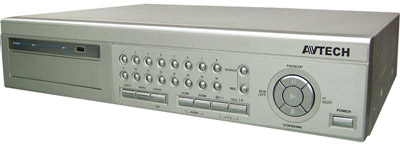 16-Kanal Digitalrecorder MPEG4, Pentaplex, LAN, USB, CD-Brenner