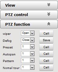 PTZ Funktionen