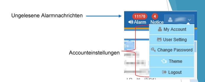 Accounteinstellungen