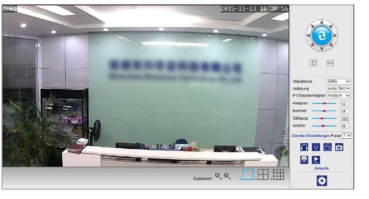 Liveansicht IP Überwachungskamera