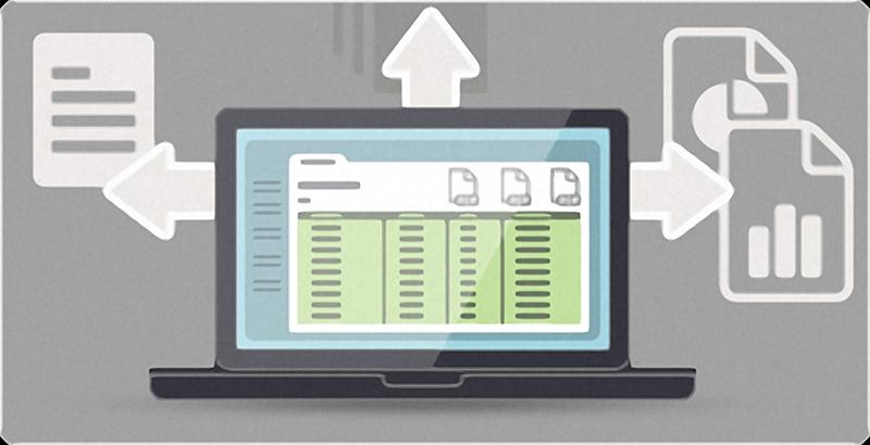Notebook mit Datenübertragung