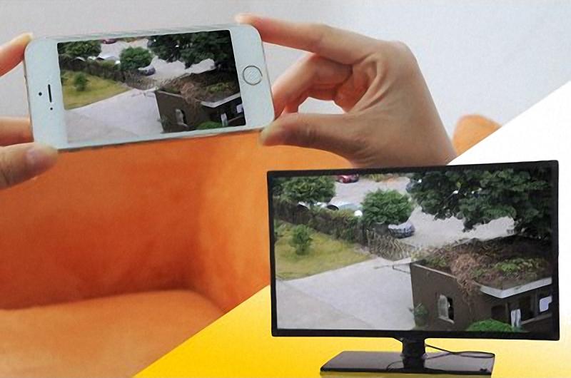Zugriff per Smartphone auf IP-Überwachungskamera
