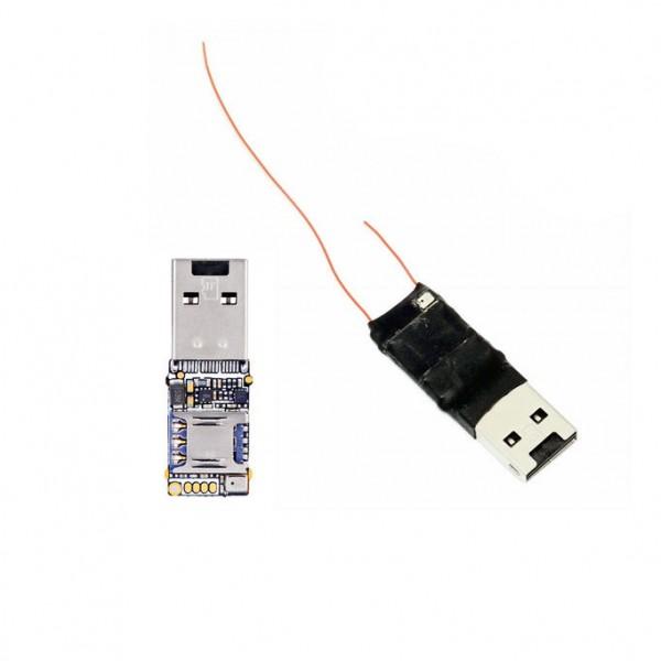 Kleiner GSM Audiosender mit USB-Anschluss, MicroSD, Geräuschaktivierung und Positionsermittlung