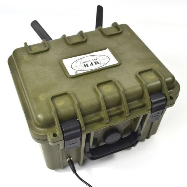 Wasserdichter LTE-NVR im Koffer als 4G-Überwachungsset zur mobilen Videoüberwachung