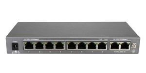 10-Port-POE-Switch - Power over Ethernet Gigabit Switch zur Stromversorgung von max. 8 POE-Kameras