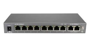 10-Port-POE-Switch - Power over Ethernet Gigabit Switch zur Stromversorgung von max. 8 POE-Kameras