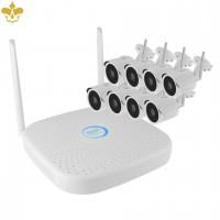 8 Kanal WLAN Videoüberwachungsset - 8 Outdoor-Überwachungskamera im Set mit WLAN Netzwerkrekorder