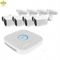 4 Kanal POE Überwachungskameraset mit 4 MP Auflösung und wetterfesten Netzwerkkameras