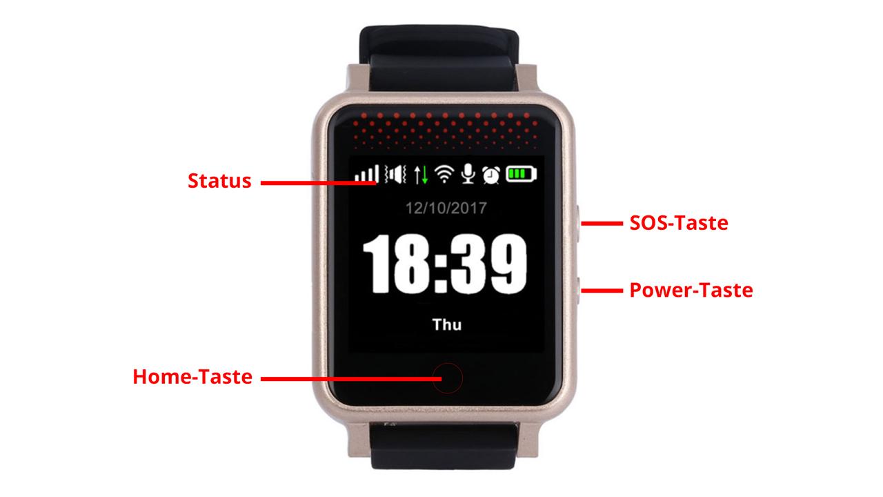 Bedienungsanleitung GPS Smartwatch Notfalluhr | online