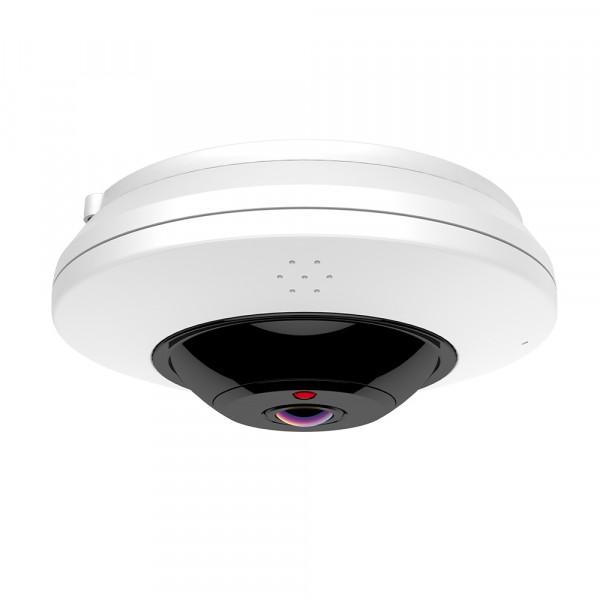 4 MP Fisheye WLAN 360 Grad Kamera mit Nachtsicht und MicroSD Speicher