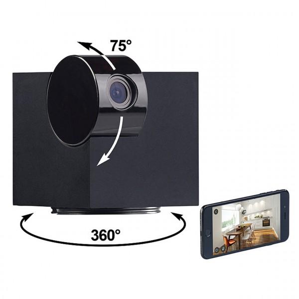 360° IP-Kamera mit WLAN und Nachtsicht zur Innenraumüberwachung