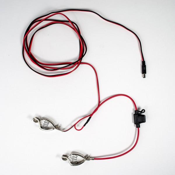 Verbindungskabel für Kameras zum Anschließen an Autobatterien