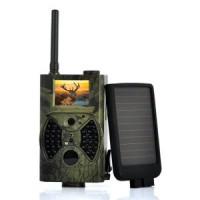 Wildkamera mit Nachtsicht, MMS und E-Mail und Extra-Solarpanel