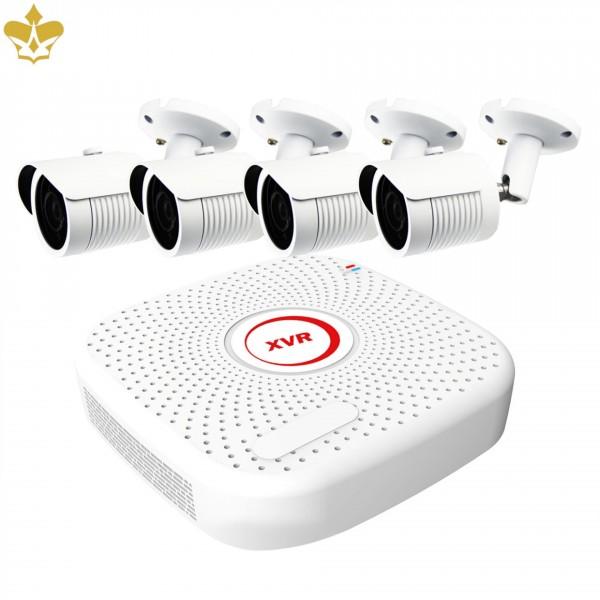 4 Kanal Überwachungskamera-Set mit FULL HD Nachtsicht Kameras und Netzwerkrekorder