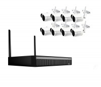 8 Kanal WLAN Videoüberwachungsset mit hoher Auflösung und wetterfestem Metallgehäuse