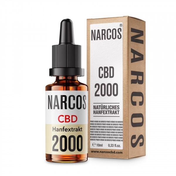 NARCOS CBD ÖL 20% mit 2000mg CBD auf 10ml