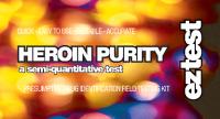 EZ-Testkits für Heroinreinheit, Analyse einer verdächtigen Substanz, um nach Heroin zu suchen