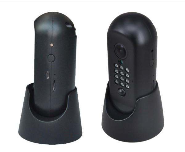 Full HD WLAN Minikamera mit Weitwinkel, Akku, PIR-Bewegungsmelder und Alarm per App