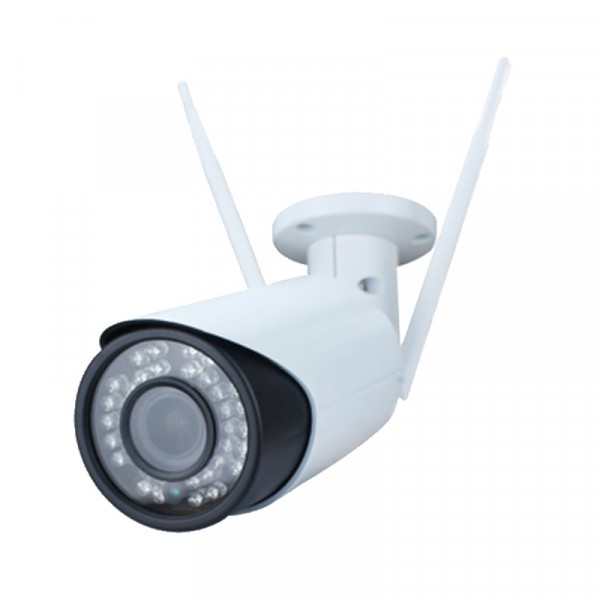 Wetterfeste 4 MP WLAN Outdoor Überwachungskamera mit Fernzugriff per Netzwerk und Internet