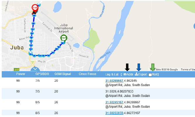 Route GPS Tracker