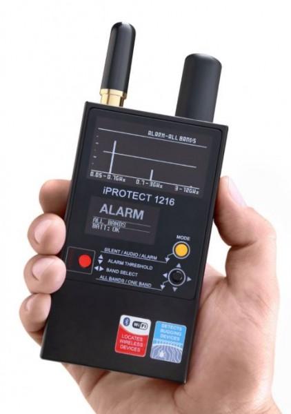 Professioneller HF-Detektor bis 12 GHz, Erkennt alle Arten von HF-Übertragungen, auch digital und 5G