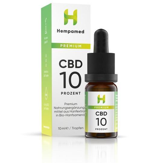 Hempamed Premium CBD Öl 10% (1000mg) - 10ml