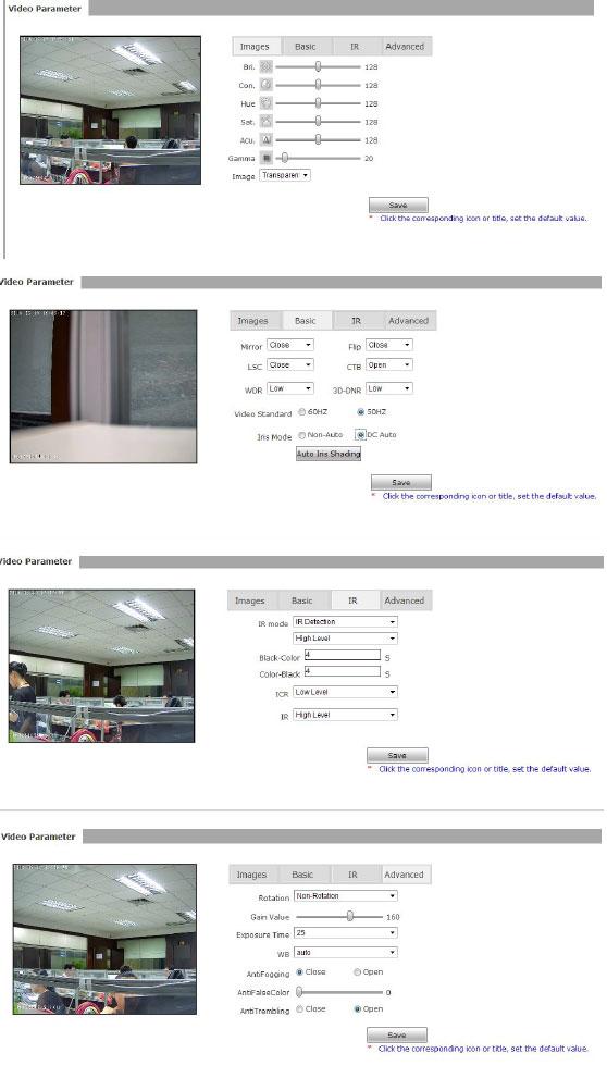 videoparameter
