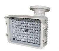 Wetterfester IR-Strahler mit bis zu 130 Meter Sichtweite zum Einsatz als Outdoor IR-LED-Scheinwerfer