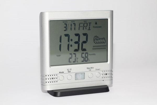 Getarnte Kamera im Thermometer als Tischuhr Kamera mit Bewegungsmelder und hoher Standby-Laufzeit