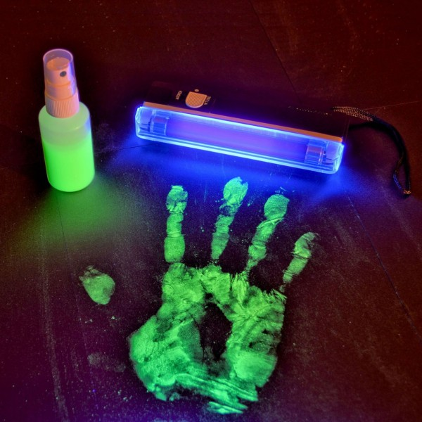 Spray gegen Diebstahl mit UV Lampe im Set - überführt jeden Dieb
