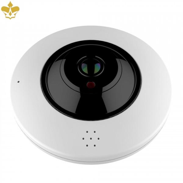 6 MP IP-Überwachungskamera mit Nachtsicht-Infrarot und MicroSD Speicher als 360 Grad Kamera