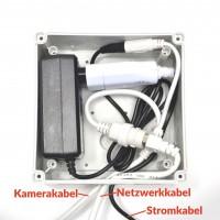 Wasserdichte Anschlussbox als wetterfeste Abzweigdose für Netzwerkkameras zum Selbsteinbau