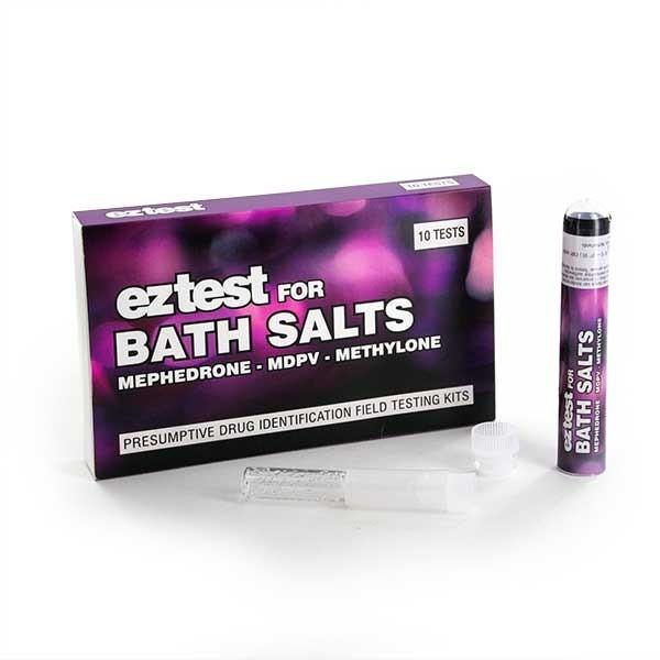EZ Test Kit für Badesalz, testet auf gängige Forschungschemikalien wie Mephedron, MDPV und Methylon