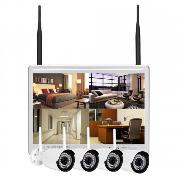 Infrarot WLAN Überwachungskamera mit Monitor und NVR als Set für mobilem Fernzugriff