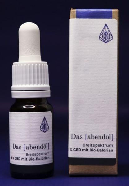 Das Aabendöl - 6% CBD Öl 600mg mit Bio Baldrian